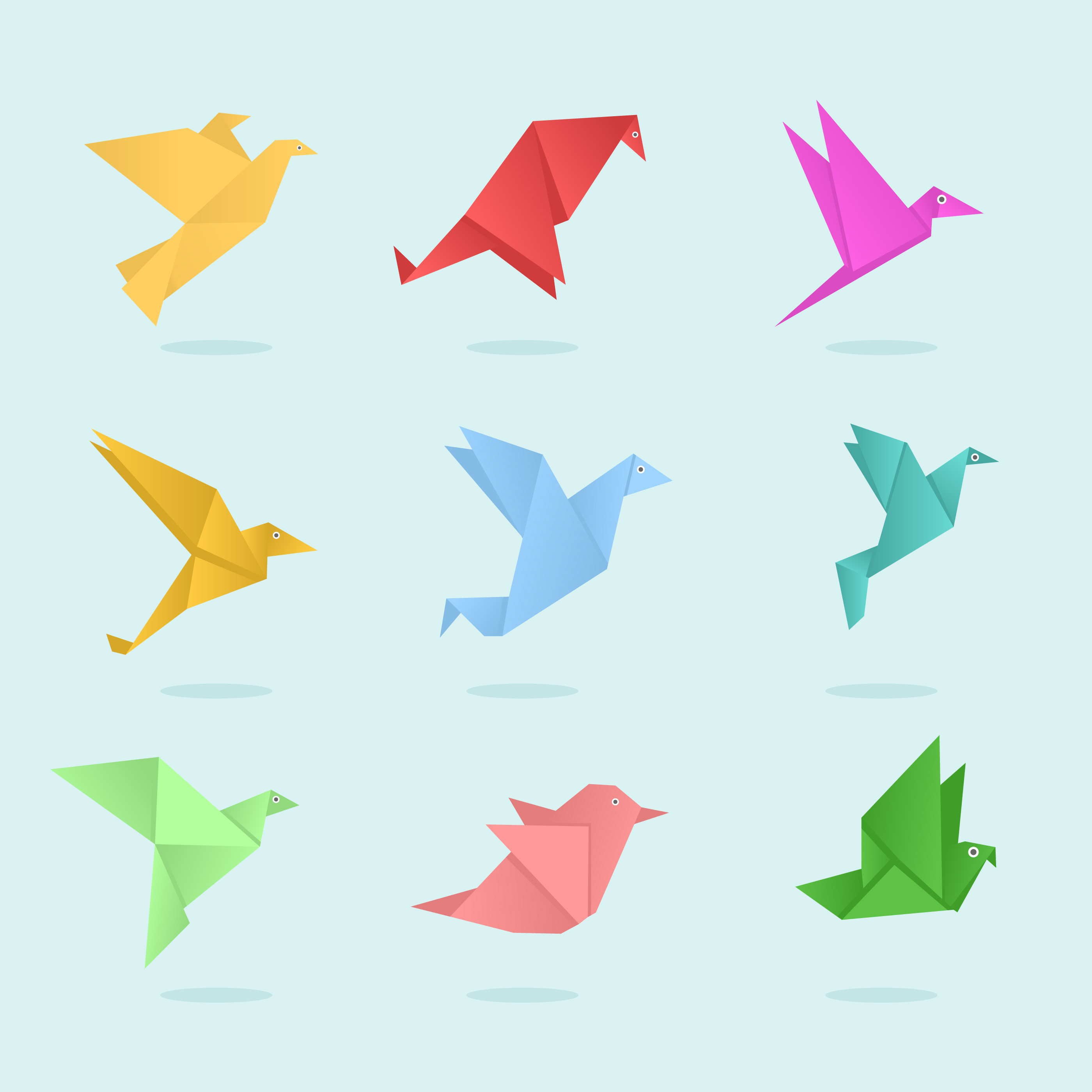 Origami Animals Vector - Download Free Vector Art, Stock ... - photo#14