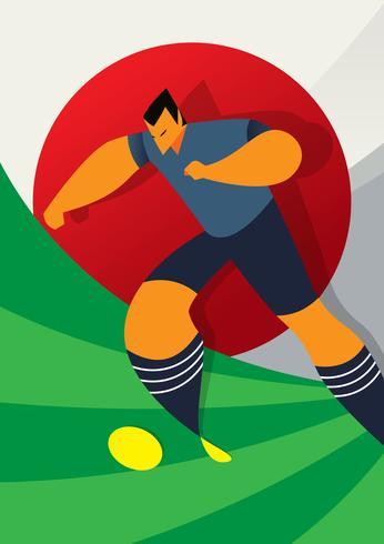 Japan VM fotbollsspelare dribbling
