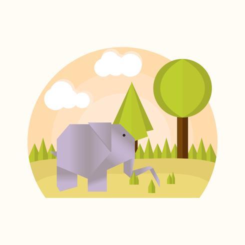 vector de animales de origami