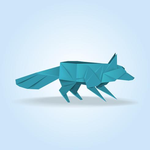 Fox Origami Japanese Creative Decoration Illustration