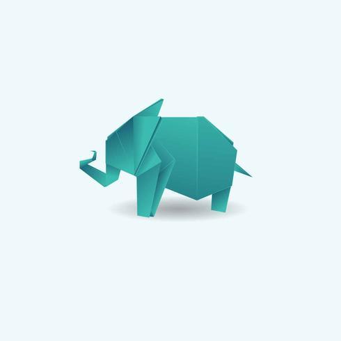 Vetor de ilustração de animais de origami