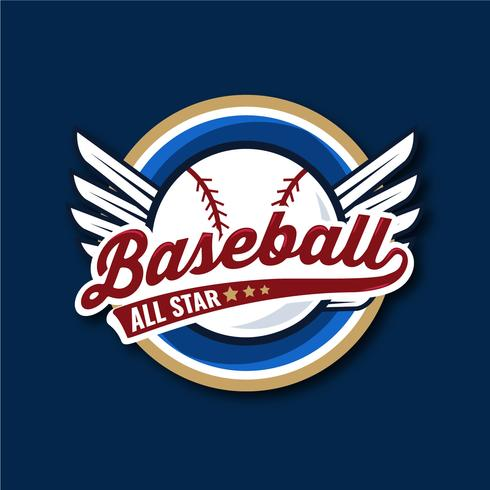 baseball all star bagde illustration