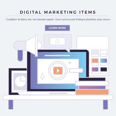 Vector Digital Marketing Items