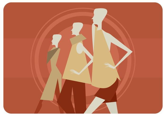 Vecteur de trois femmes mannequins