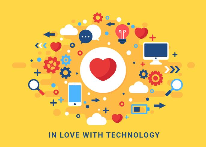 Love Technology Concept Vector - Download Free Vector Art ...
