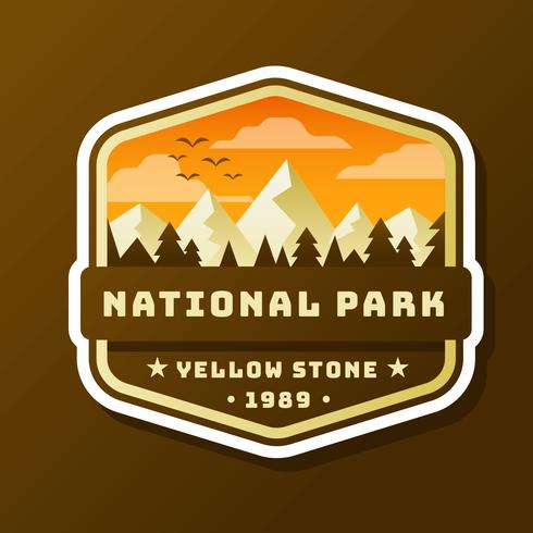 Conception de patch de parc national