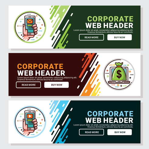 Corporate Web Header