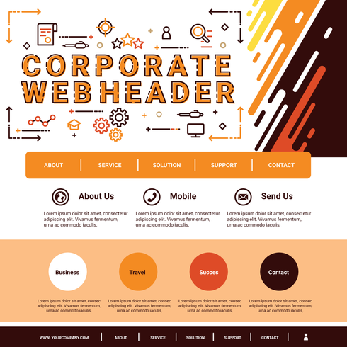 Encabezado web corporativo