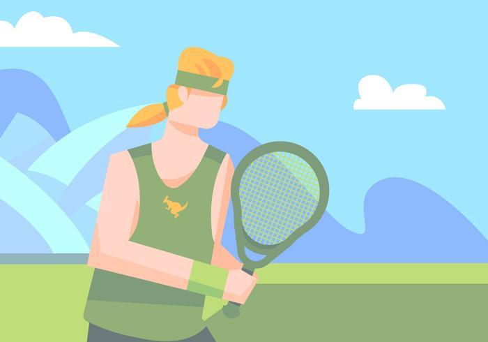 Australian In Tennis Field
