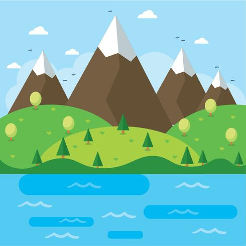 Flat National Park Vector