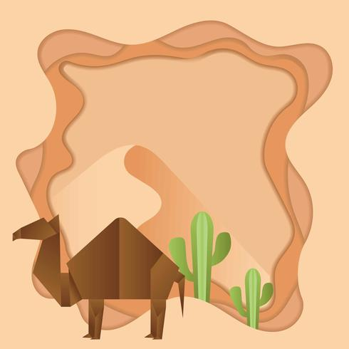 origami kamel djur bakgrund