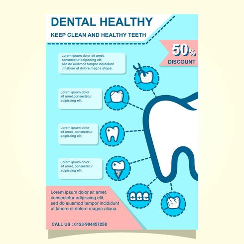Dental Health And Wellness Brochure Template
