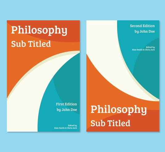 Philosophy book cover template