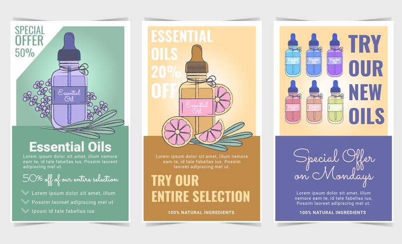 Vector Essential Oils Sale Panfletos