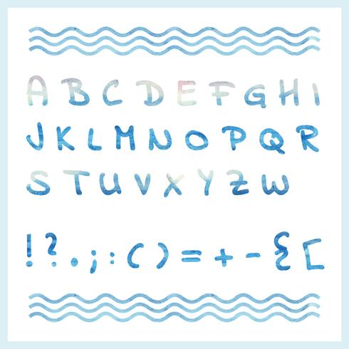 Alfabeto de acuarela de vector