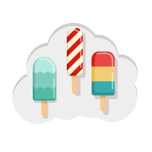 Colorido verano Popsicles Vector Illustration