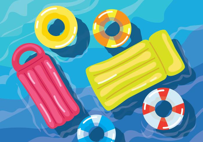 Pool Inflatables-Vektor-Illustration