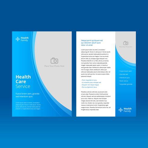 Vector de plantilla de folleto de cuidado de salud