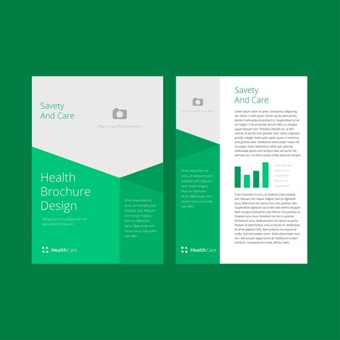 Wellness Brochure Template Vector