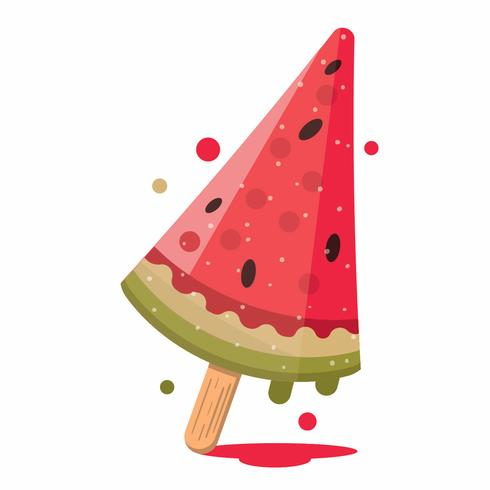 Fun Illustration of watermelon popsicle