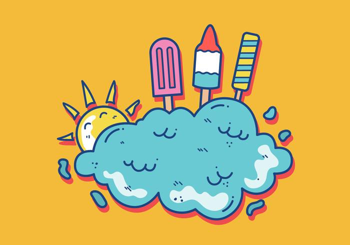 Summer Popsicles Vector