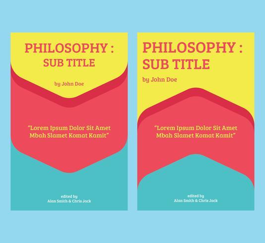 Philosophie livre couverture vecteur modèle