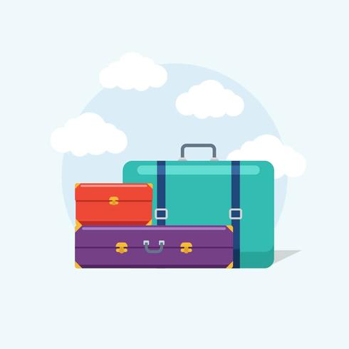 Platte Bagage Illustratie Vector