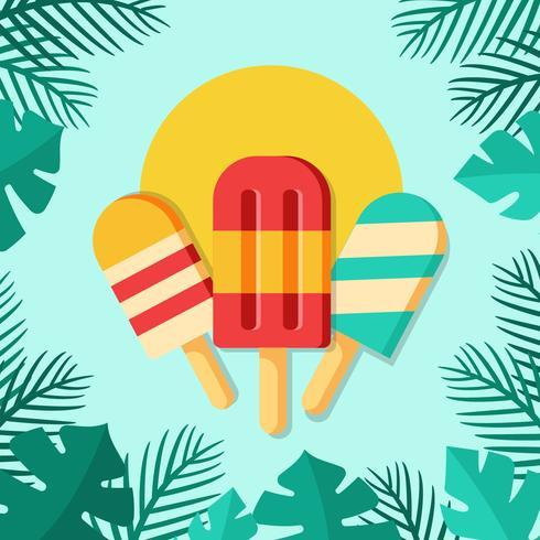 Ilustração de sorvete de picolés