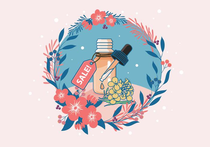 Essential Oil Sale Vector