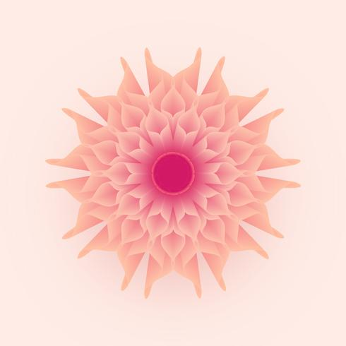 3D Abstract Geometric Soft Pastel Flower Vector