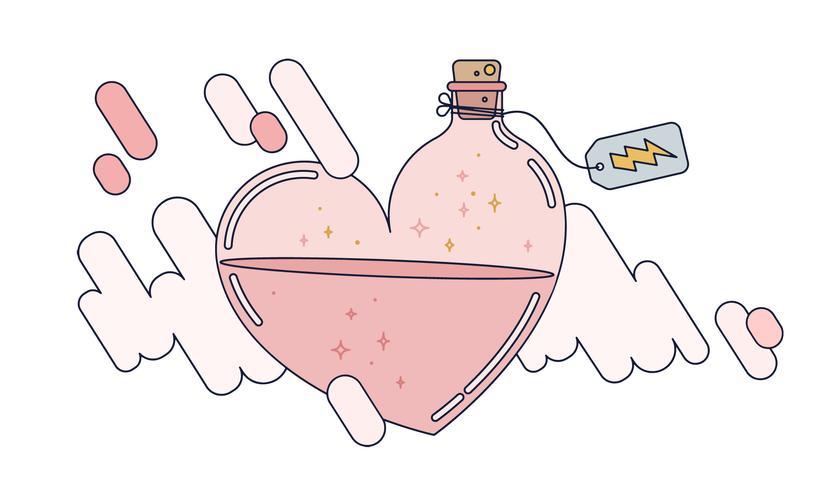 vector de poción de amor