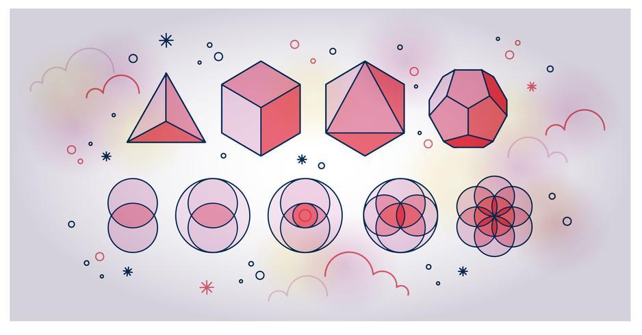 Vector de geometría sagrada
