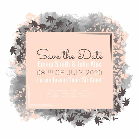 Vector Save the Date Banner
