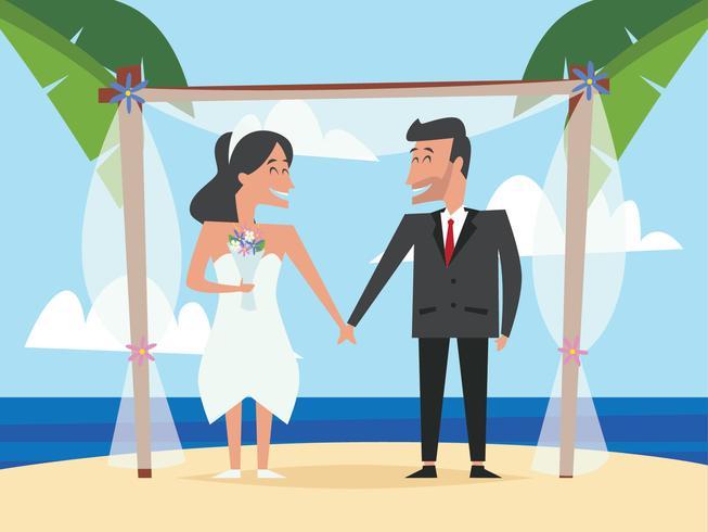 Matrimonios de boda Matrimonio en la playa