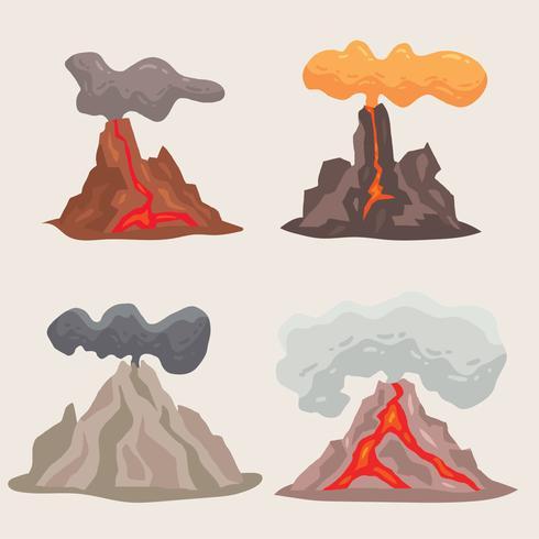 vulkaan berg vector