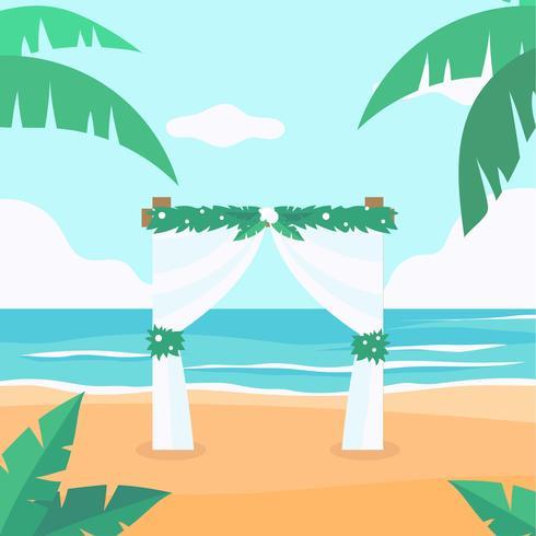 Vetor de casamento de praia