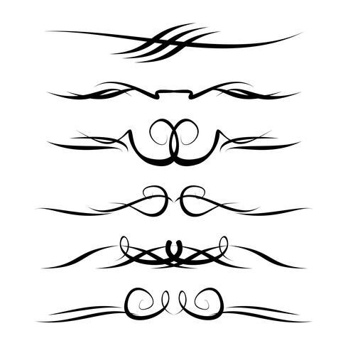 Dibujado a mano elementos ornamentales decorativos