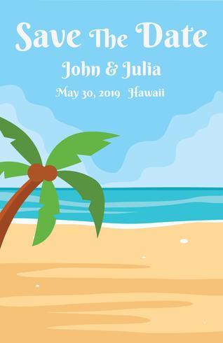 Invitación de boda de playa