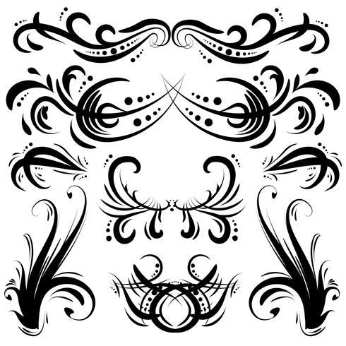Éléments décoratifs décoratifs dessinés à la main