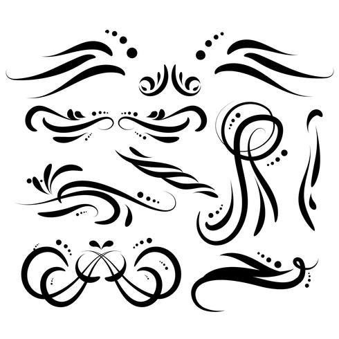 Elementos decorativos decorativos desenhados a mão