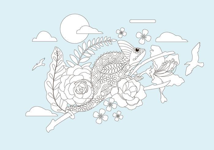Coloring Book Animals Vector
