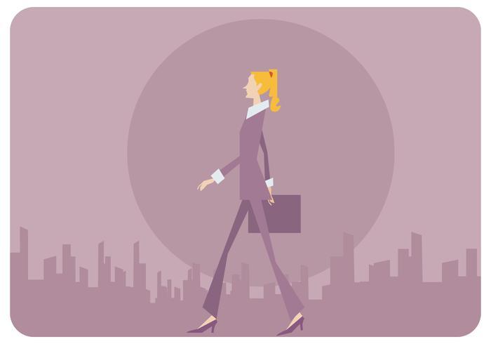 Vetor de mulher de negócios de estilo simples