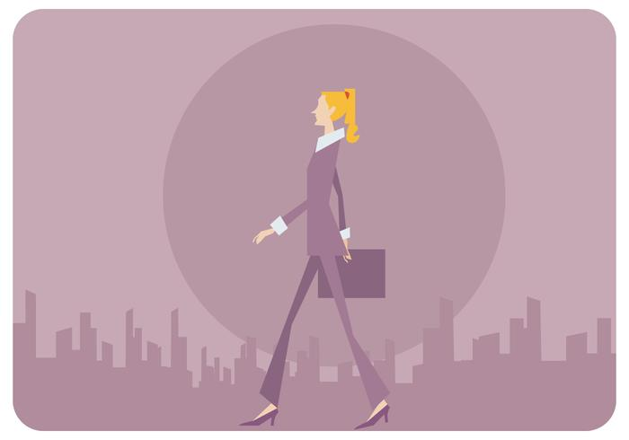 Flach-Art Geschäftsfrau-Vektor