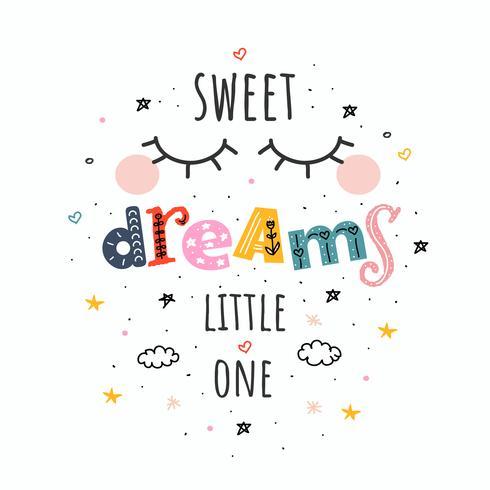 doces sonhos pequeno vetor um
