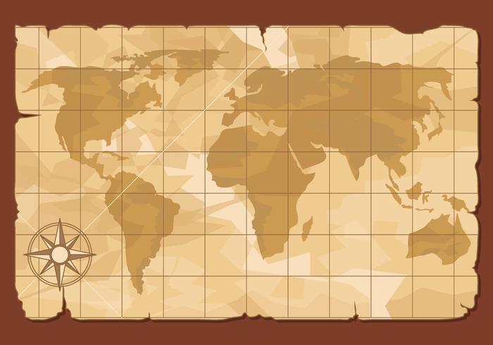 Ancient World Map Illustration