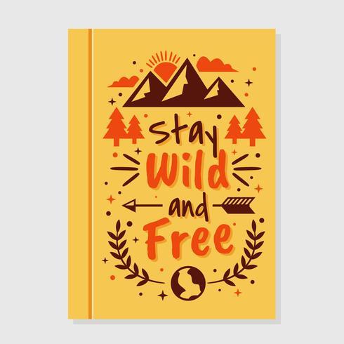 Capa de livro inspirador selvagem e livre