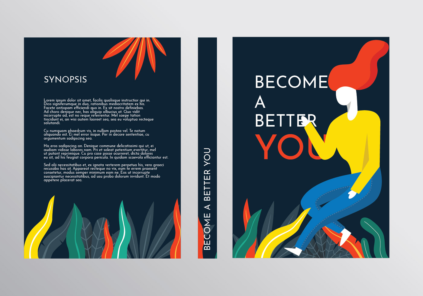 Book Cover Vector Graphic ~ Motivational book cover template vector download free art stock graphics images