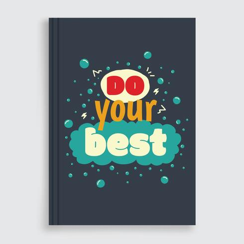 Motivational Book Cover Vector
