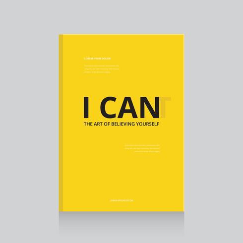 Modelo de Design de capa de livro motivacional simples e eficaz