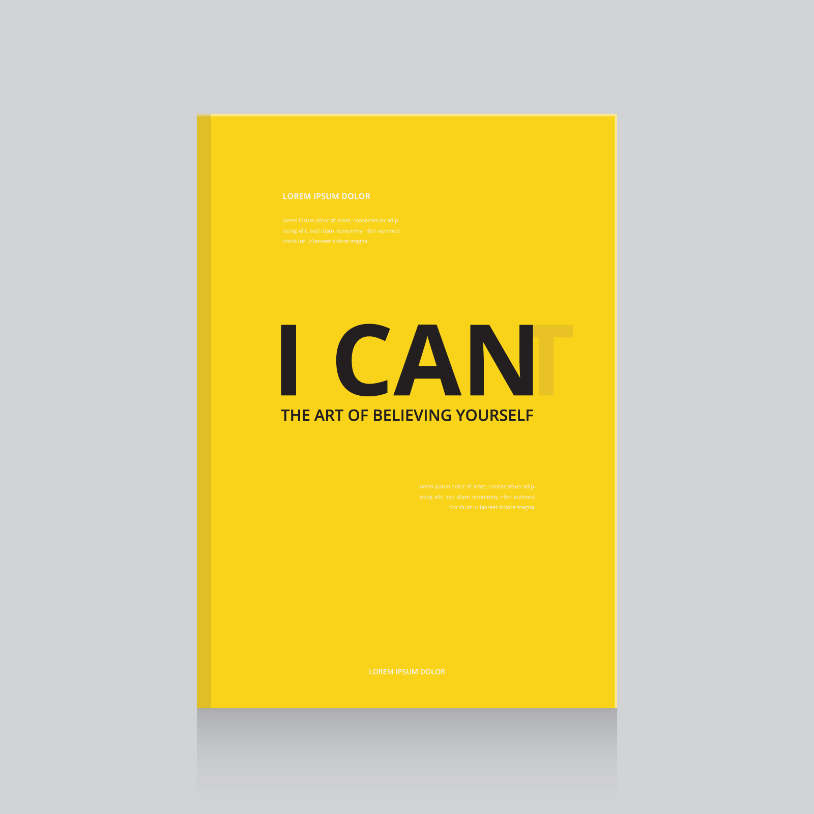 Simple And Effective Motivational Book Cover Design